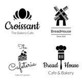 Σύνολο λογότυπων αρτοποιείων διανυσματική απεικόνιση