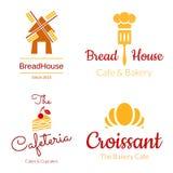 Σύνολο λογότυπων αρτοποιείων ελεύθερη απεικόνιση δικαιώματος