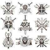 Σύνολο λογότυπων Βίκινγκ διανυσματική απεικόνιση