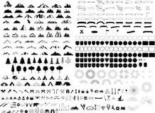 Σύνολο λογότυπων βουνών Στοκ εικόνα με δικαίωμα ελεύθερης χρήσης
