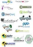 Σύνολο 7 λογότυπων δειγμάτων απεικόνιση αποθεμάτων