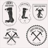 Σύνολο λογότυπων επισκευής παπουτσιών Στοκ Φωτογραφία