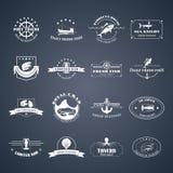 Σύνολο λογότυπων θαλασσινών Στοκ φωτογραφία με δικαίωμα ελεύθερης χρήσης