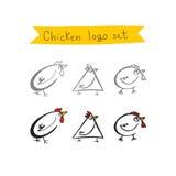 Σύνολο λογότυπων κοτόπουλου Στοκ εικόνα με δικαίωμα ελεύθερης χρήσης