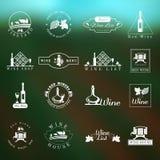 Σύνολο λογότυπων κρασιού