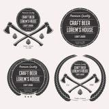 Σύνολο λογότυπων μπύρας τεχνών Στοκ φωτογραφία με δικαίωμα ελεύθερης χρήσης