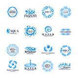 Σύνολο λογότυπων νερού Στοκ Φωτογραφία