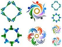 Σύνολο λογότυπων ομάδας απεικόνιση αποθεμάτων