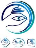 Σύνολο λογότυπων προσοχής ματιών διανυσματική απεικόνιση