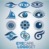 Σύνολο λογότυπων προσοχής ματιών Στοκ εικόνα με δικαίωμα ελεύθερης χρήσης