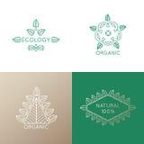 Σύνολο λογότυπων στοιχείων φύσης Απεικόνιση αποθεμάτων