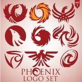Σύνολο 1 λογότυπων του Phoenix Στοκ φωτογραφία με δικαίωμα ελεύθερης χρήσης