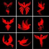 Σύνολο λογότυπων του Phoenix Στοκ φωτογραφία με δικαίωμα ελεύθερης χρήσης
