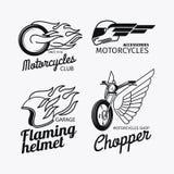 Σύνολο λογότυπων φυλών μοτοσικλετών Στοκ εικόνες με δικαίωμα ελεύθερης χρήσης