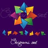 Σύνολο λογότυπων Origami Διανυσματική απεικόνιση