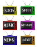 Σύνολο λογότυπων TV Στοκ Φωτογραφίες