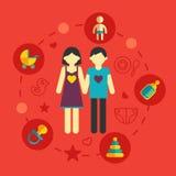 Σύνολο οικογενειακού προγραμματισμού και διακοπών infographic Στοκ Φωτογραφίες