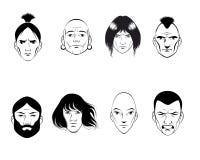 Σύνολο οκτώ ατόμων Απεικόνιση αποθεμάτων
