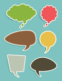 Σύνολο ομιλίας και σκεπτόμενων φυσαλίδων ή μπαλονιών Στοκ Εικόνα