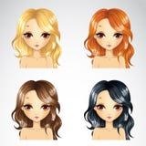 Σύνολο ομορφιάς περιστασιακό Hairstyle Στοκ φωτογραφία με δικαίωμα ελεύθερης χρήσης