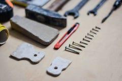 Σύνολο οργάνων για την επισκευή στο ξύλο Στοκ Εικόνες