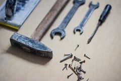 Σύνολο οργάνων για την επισκευή στο ξύλο Στοκ Φωτογραφίες