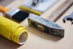 Σύνολο οργάνων για την επισκευή στο ξύλο Στοκ φωτογραφία με δικαίωμα ελεύθερης χρήσης