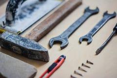 Σύνολο οργάνων για την επισκευή στο ξύλο Στοκ φωτογραφίες με δικαίωμα ελεύθερης χρήσης