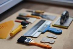 Σύνολο οργάνων για την παραγωγή της επισκευής στο ξύλο Στοκ φωτογραφία με δικαίωμα ελεύθερης χρήσης