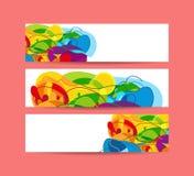 Σύνολο οριζόντιων εμβλημάτων επίσης corel σύρετε το διάνυσμα απεικόνισης Στοκ φωτογραφία με δικαίωμα ελεύθερης χρήσης