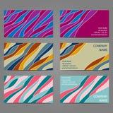 Σύνολο 4 3 οριζόντιων επαγγελματικών καρτών Στοκ εικόνα με δικαίωμα ελεύθερης χρήσης