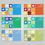 Σύνολο 8 6 οριζόντιων επαγγελματικών καρτών Στοκ εικόνες με δικαίωμα ελεύθερης χρήσης