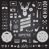 Σύνολο ορισμένων τρύγος εικονιδίων Hipster σχεδίου Διανυσματικά σημάδια και πρότυπα συμβόλων απεικόνιση αποθεμάτων