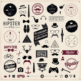 Σύνολο ορισμένων τρύγος εικονιδίων Hipster σχεδίου. Διάνυσμα Στοκ Εικόνες