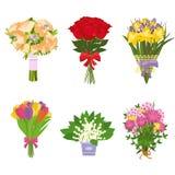 Σύνολο λουλουδιών που απομονώνεται Στοκ Φωτογραφίες