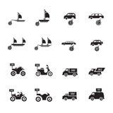 Σύνολο οχημάτων πώλησης Στοκ Εικόνες