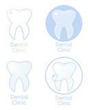 Σύνολο οδοντικής κλινικής Logotypes Στοκ Φωτογραφίες