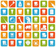 Σύνολο οδοντικών εικονιδίων Στοκ φωτογραφία με δικαίωμα ελεύθερης χρήσης