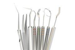 Σύνολο οδοντικών εργαλείων, τρισδιάστατη απόδοση απεικόνιση αποθεμάτων