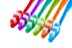 Σύνολο οδοντοβουρτσών που απομονώνεται στο άσπρο υπόβαθρο Στοκ φωτογραφίες με δικαίωμα ελεύθερης χρήσης