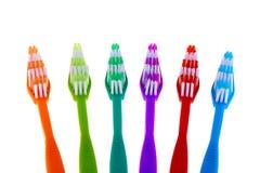 Σύνολο οδοντοβουρτσών που απομονώνεται στο άσπρο υπόβαθρο Στοκ εικόνες με δικαίωμα ελεύθερης χρήσης