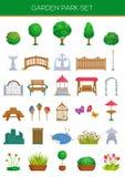 Σύνολο πάρκων κήπων Στοκ εικόνα με δικαίωμα ελεύθερης χρήσης