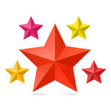 Σύνολο πέντε αστεριών σε ένα άσπρο υπόβαθρο Στοκ Εικόνες