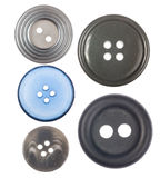 Σύνολο πέντε κουμπιών που απομονώνεται στο λευκό Στοκ φωτογραφία με δικαίωμα ελεύθερης χρήσης
