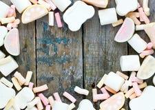 Σύνολο παραδοσιακό αμερικανικό χνουδωτό marshmallow καραμελών Στοκ Εικόνες