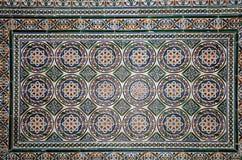 Σύνολο παραδοσιακών ισλαμικών (μαυριτανικών) κεραμικών κεραμιδιών, Plaza de Espana στη Σεβίλη, Ανδαλουσία, Ισπανία Στοκ φωτογραφία με δικαίωμα ελεύθερης χρήσης