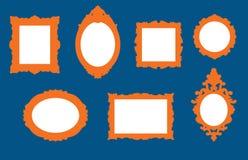 Σύνολο παλαιών σχεδίων πλαισίων εικόνων Στοκ εικόνες με δικαίωμα ελεύθερης χρήσης