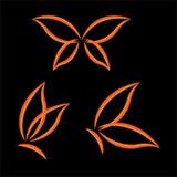 Σύνολο πεταλούδων φτερών απεικόνιση αποθεμάτων