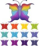 Σύνολο πεταλούδων Στοκ εικόνα με δικαίωμα ελεύθερης χρήσης