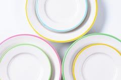 Σύνολο πιάτων γευμάτων Στοκ Εικόνα